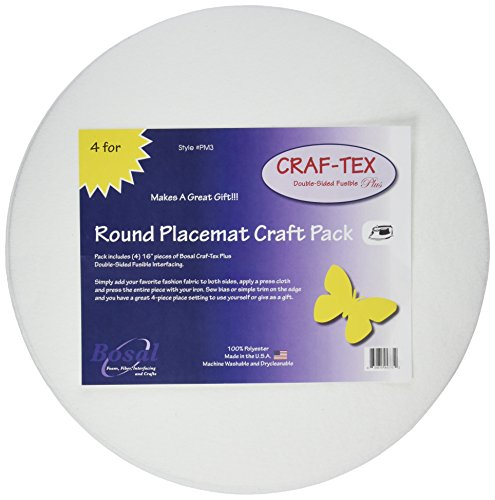 Bosal Craf Tex Plus Placemat 18 215 13 4pc White 4 Piece